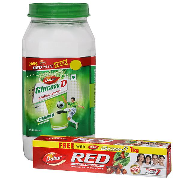 Dabar Glucose - D 1kg ( free red paste 200gm )